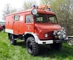 Diverse/609430/unimog-feuerwehr-der-ffw-marktl-schuetzing Unimog Feuerwehr der FFW Marktl Schützing beim Oldtimertreffen in Autenried am 15.04.2018.