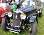 Ein Riley Oldtimer in Autenried am 13.04.2014.