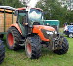 Traktor Kubota M 7040 in Bad Hindelang am 10.09.2016.